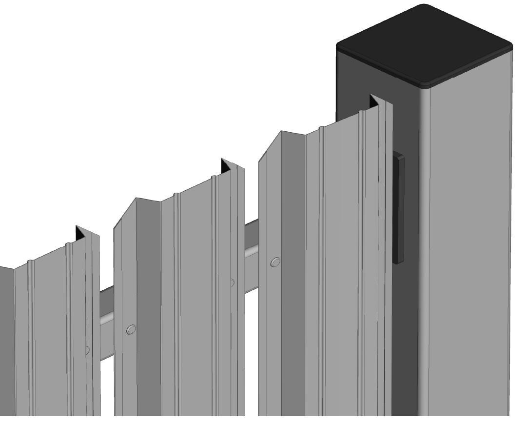 Aluzinc модульные заборы